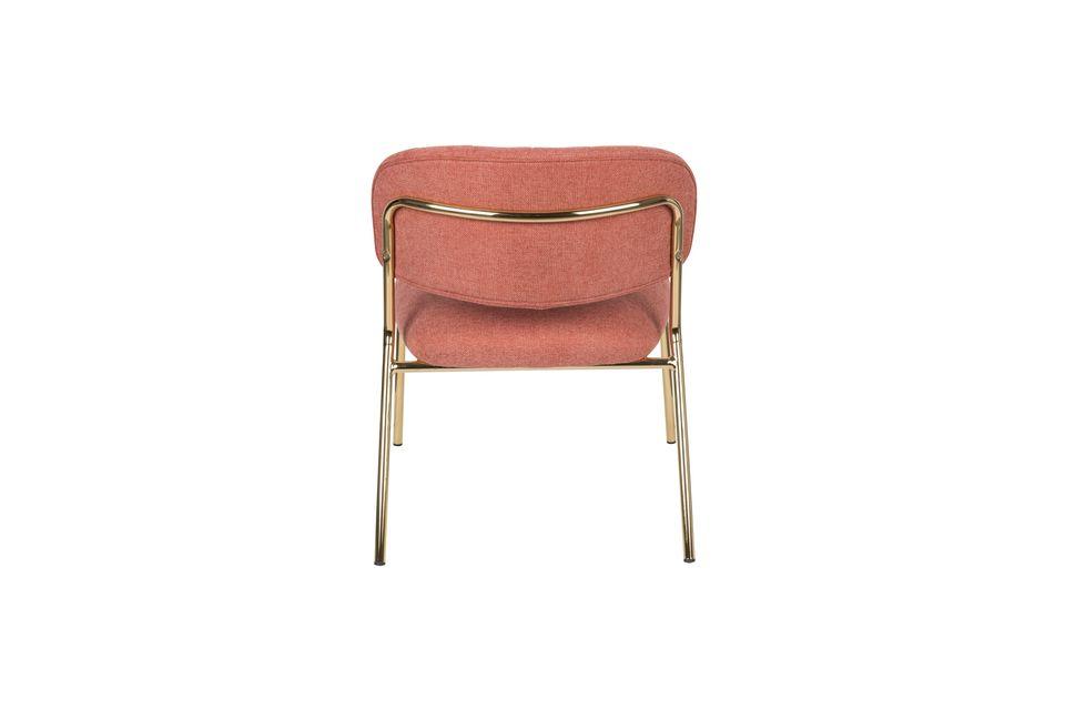 Sessel Jolien gold und rosa - 8