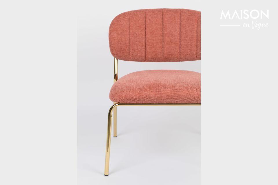 Lounge-Stuhl in Rosa und Gold