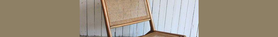 Materialbeschreibung Sessel mit Sitz und Rückenlehne aus Korbgeflecht Husson