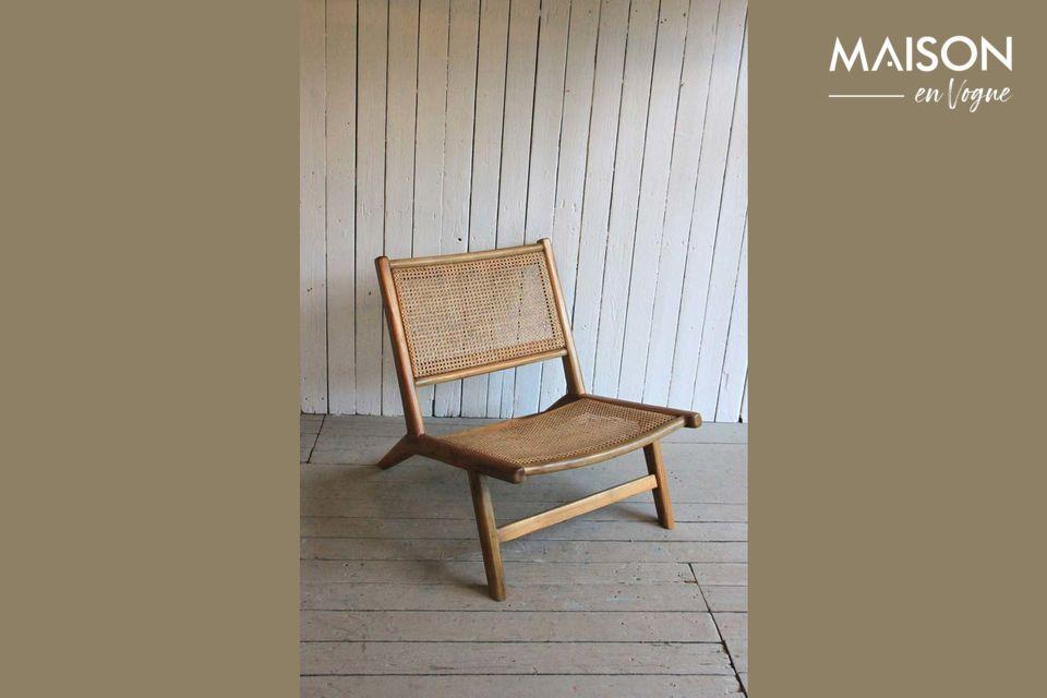 Sessel mit Sitz und Rückenlehne aus Korbgeflecht Husson