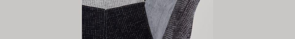 Materialbeschreibung Sessel Twelve Patchwork grau