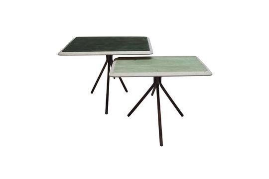 Set mit 2 grünen Tischen aus lackiertem Holz Rêverie