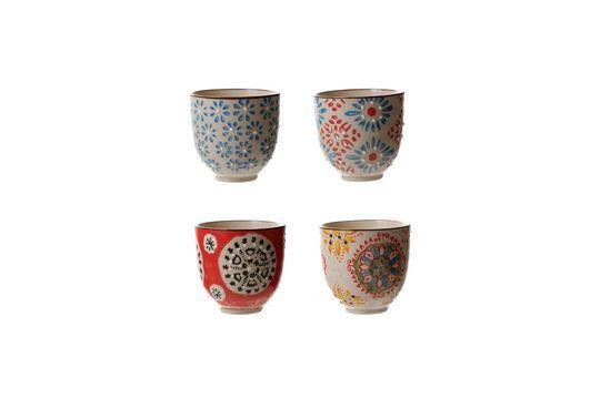 Set mit 4 bohemian Espressotassen