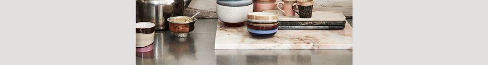 Materialbeschreibung Set mit 4 Keramik-Cappuccino-Tassen 70er Jahre