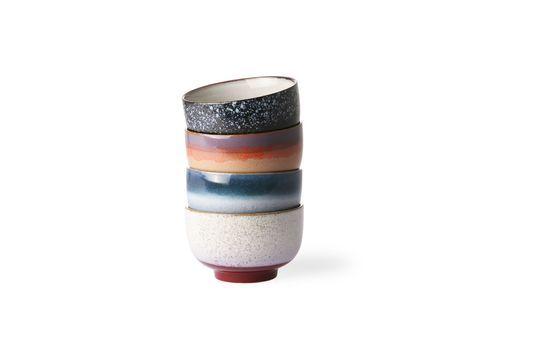 Set mit 4 Keramikschalen 70er Jahre ohne jede Grenze