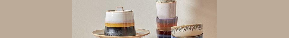 Materialbeschreibung Set mit 4 Keramikschalen 70er Jahre
