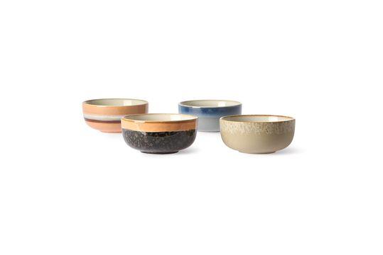 Set mit 4 mittleren Keramikschalen aus den 70er Jahren