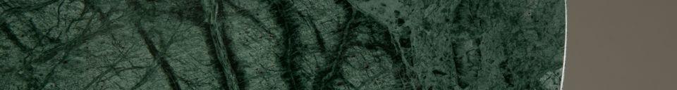 Materialbeschreibung Smaragd Beistelltisch