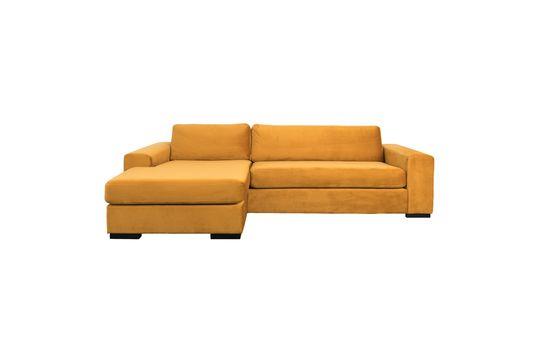 Sofa Fiep links in ockerfarbenem Samt ohne jede Grenze