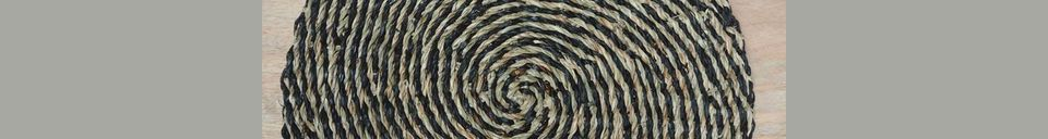 Materialbeschreibung Spiralförmige Tischunterlage im natürlichen Meeresrauschen Laveyron