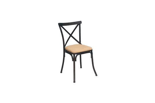 Stuhl aus Metall und Jute Lorraine