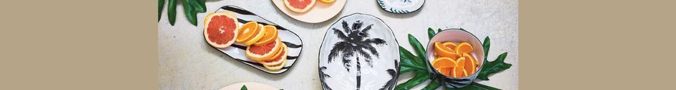 Materialbeschreibung Suppenteller mit Palmen Fréthun aus Porzellan