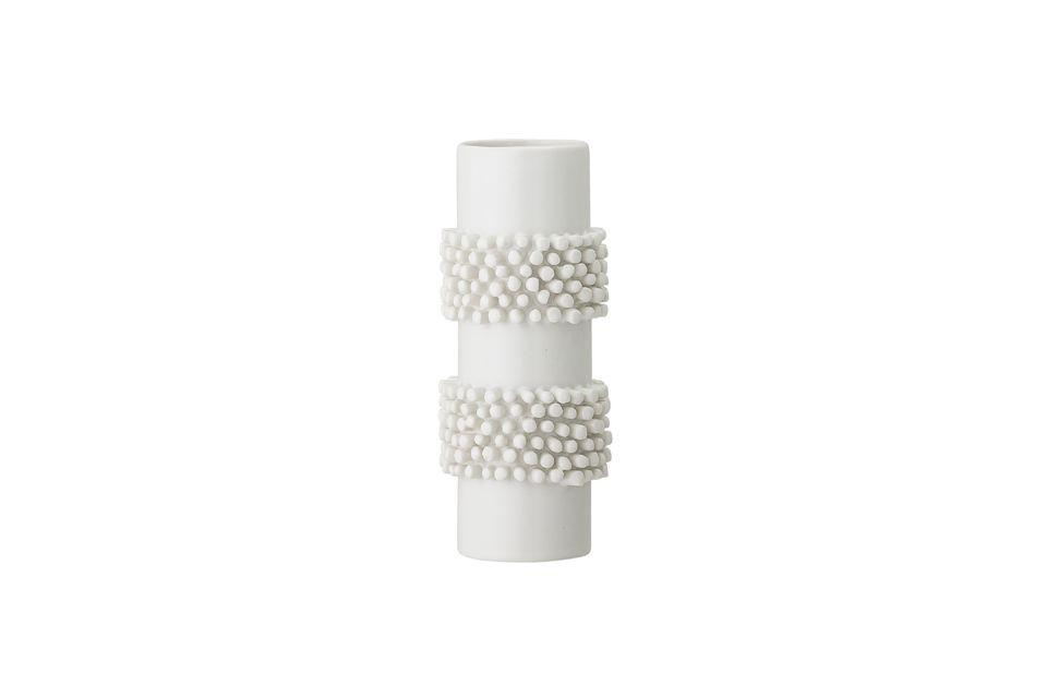 Vase aus weißem Stein Chemery Bloomingville
