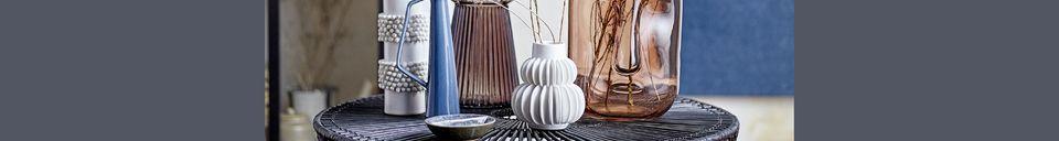 Materialbeschreibung Vase aus weißem Stein Chemery