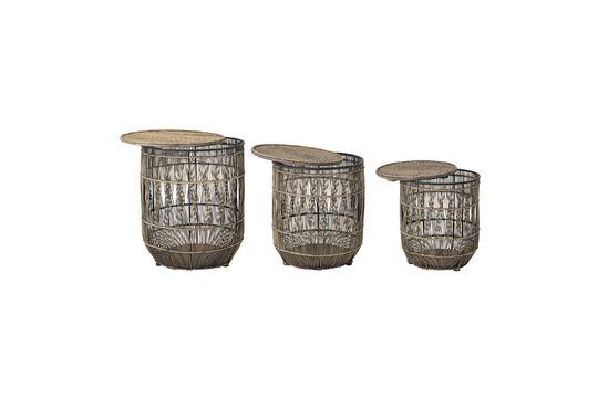 Vrocourt Beistelltisch aus Bambus ohne jede Grenze