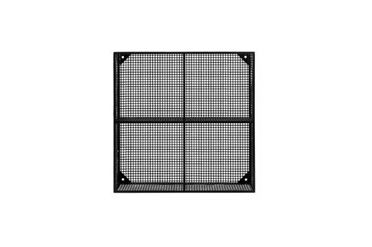 Wandregal Wire aus schwarzem Metall mit 4 Fächern
