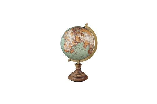 Weltkarte Riverie mit Vintage Holzbasis ohne jede Grenze